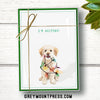"Holiday: Funny Dog Christmas Cards Boxed Set of 15, ""I'm Helping!"""
