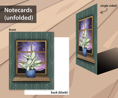 Houseplant Dreams notecard set