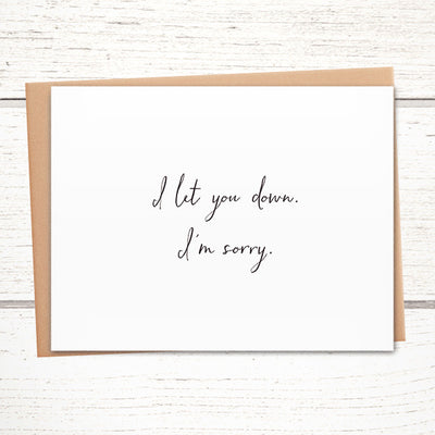 The perfect apology card for when you mess up.
