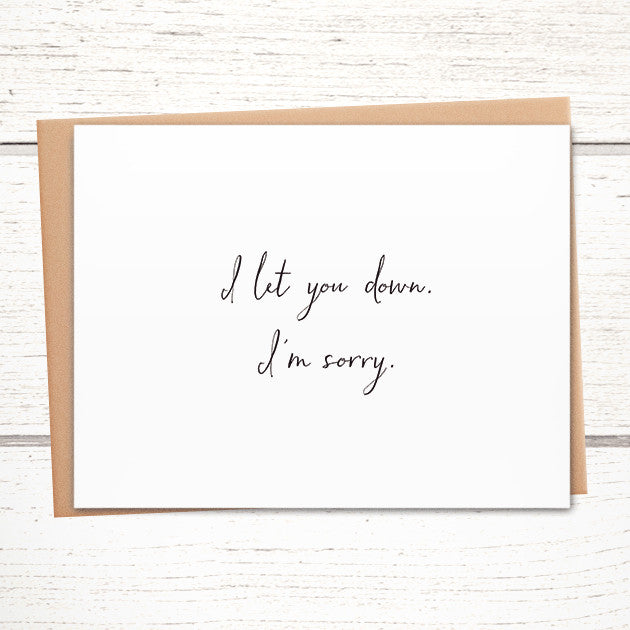Greeting cards greymount paper and press of albany ny tagged the perfect apology card for when you mess up m4hsunfo