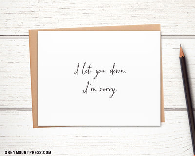 This great Im sorry card will help smooth things over.