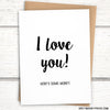 "Money Cards: ""I love you! Here's some money"" Greeting card for gift cards & cash"