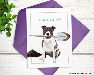 Funny dog love card