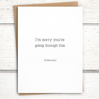 non-religious sympathy card for grief