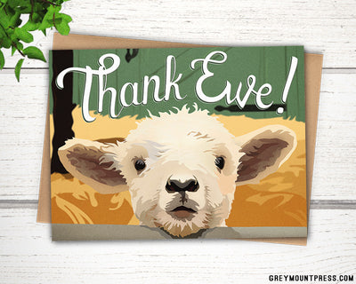 Thank ewe lamb thank you card for livestock auctions