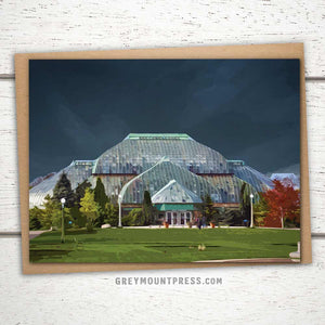 Lincoln Park Conservatory Greeting Card: Chicago, IL