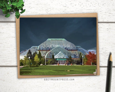 Greeting card of Lincoln Park Conservatory in Chicago
