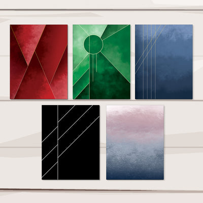 Luxury notecard set with 5 designs :: Lux Line
