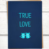 "Monsters in love ""True Love"" anniversary card by Greymount Paper & Press"