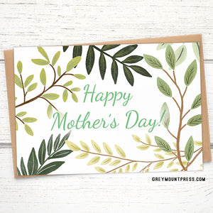 Mother's Day Card: Branches