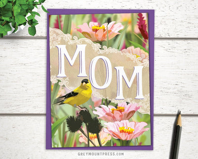 Mom Card with Goldfinch
