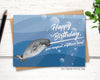 narwhal funny birthday card for men