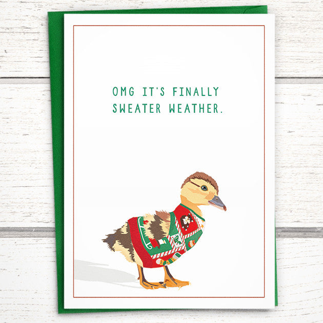 funny ugly sweater christmas card - Non Photo Christmas Cards