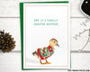 Duck Christmas card. Funny holiday cards.