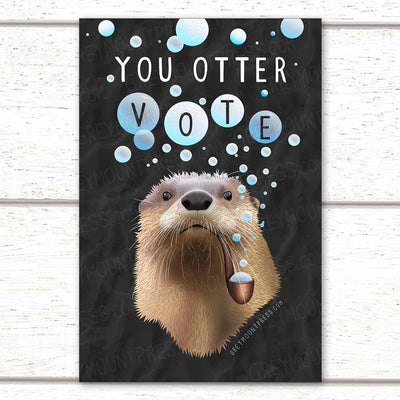 You Otter Vote Postcard to Encourage Voting Registration
