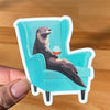 Otter sticker. Vinyl sticker for laptop. Otter swag.