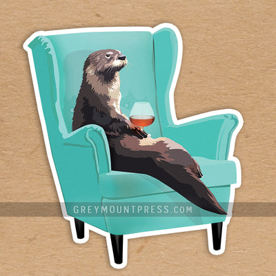 Otter Sticker: Otter laptop sticker