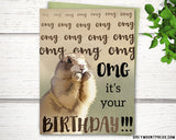 Prarie dog birthday card