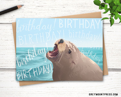 seal birthday card for friends