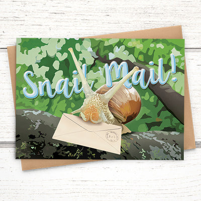 Snail mail greeting card for friends
