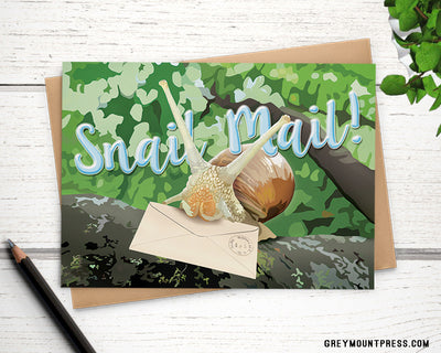 Snail mail greeting card - Greymount Paper & Press