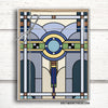 Art Deco Notecard Set. Stained Glass Notecards.