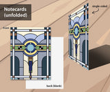 Stained glass notecard set