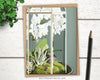 Orchid Terrarium greeting card