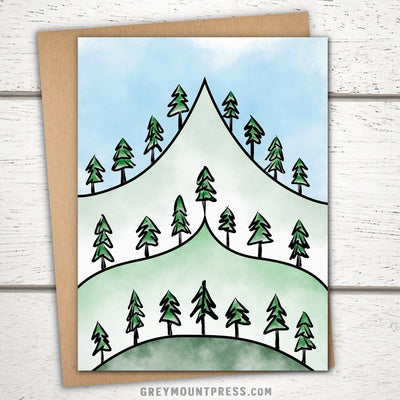 Mountain card for hiker