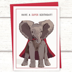Elephant birthday card by Greymount Paper and Press