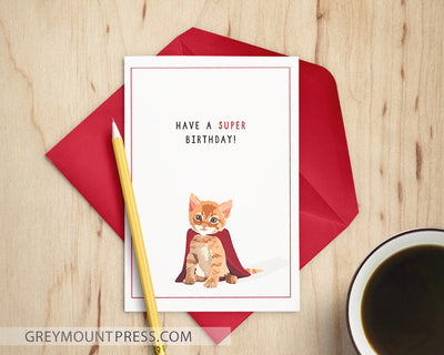 Cat birthday card funny