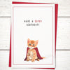Funny cat birthday card for friends