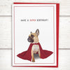 French bulldog birthday card for friends
