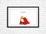 Funny chick wall art print