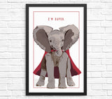 Funny elephant wall art print