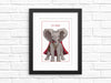 Caped Animals illustrated frameable art prints: 5x7
