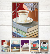 teacup notecard stationery set
