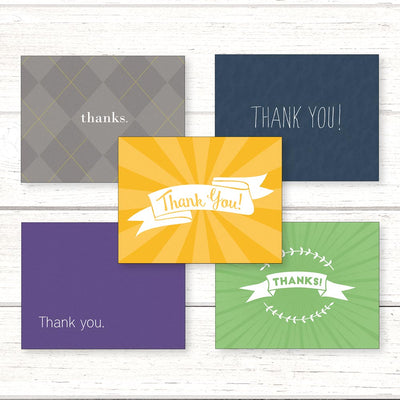Thank You Notecard Pack with 5 Designs
