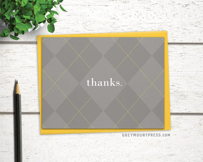 understated thank you card