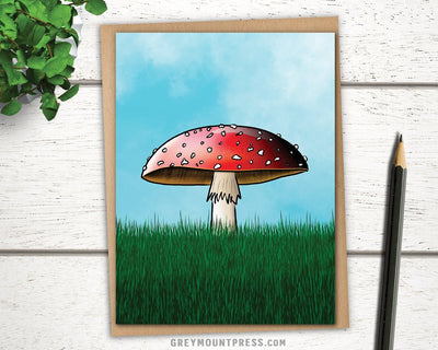 Red Mushroom Card for Friends.