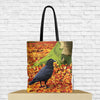 crow tote bag with crow design