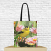 goldfinch tote bag with goldfinch