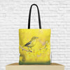 pine warbler bird tote bag with bird