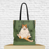 fat cat tote bag with cat