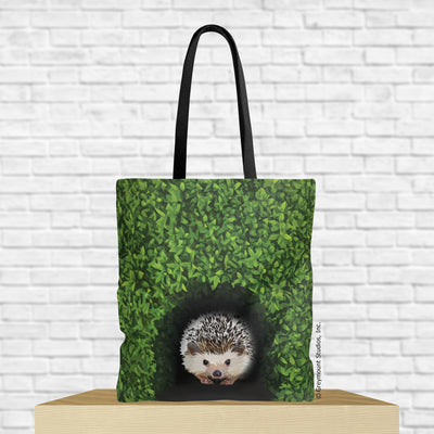 hedgehog tote bag with hedgehog