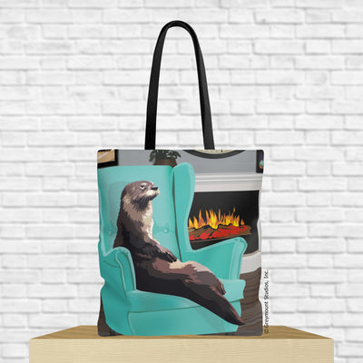 otter tote bag with otter