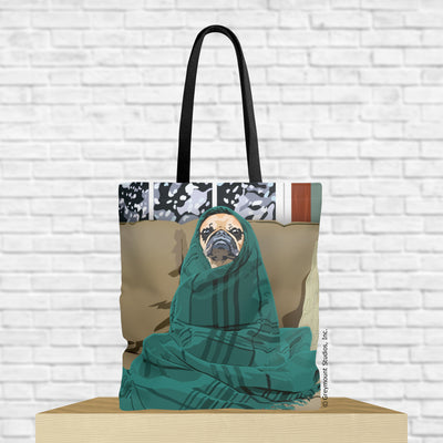 pug tote bag with pug