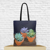 succulent tote bag with succulents