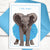 "Our Tutu Elephant ""I feel fancy"" card"