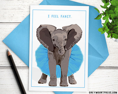 Funny elephant card for friend